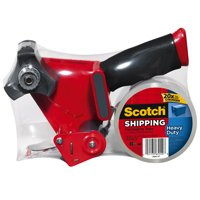 Scotch 3850-ST Heavy Duty Shipping Packaging Tape With Dispenser, 1.88 in W x 54.6 yd L x 3.1 mil T, Clear