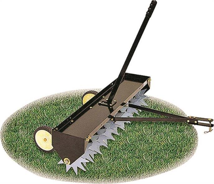 Agri-Fab 45-0369 Curved Tow Spike Lawn Aerator, 40 in Working, 3 in Aeration, 100 lb, Steel