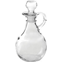Anchor Hocking 980R Presence Cruet With Stopper, 10 oz, 1-5/8 in Top, 1-1/2 in Bottom, 3-1/2 in Max Dia x 7 in H