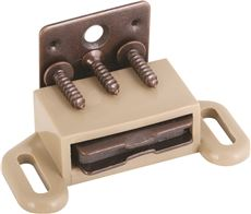 ANVIL MARK® MAGNETIC CABINET CATCH, TAN, 5 PER PACK