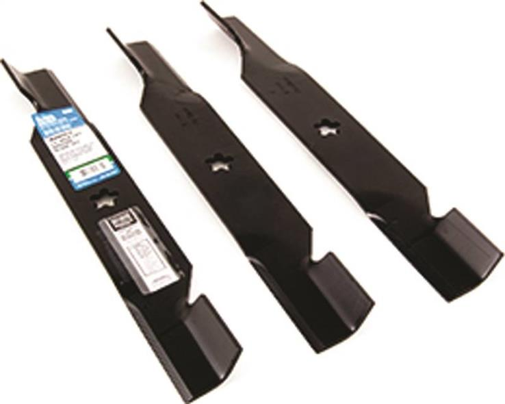 Arnold 490-110-0150 High Lift Standard Replacement Bagging Blade Set, 3 Pieces, 54 in L