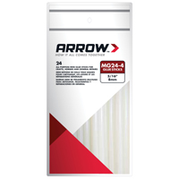 Arrow MG24-4 All-Purpose Mini Glue Stick, 5/16 in Dia X 4 in L, Clear