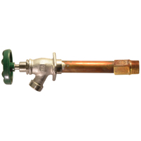 Arrowhead 456-04LF Standard Frost Free Hydrant, 1/2 in, Sweat/MIP, 3-3/4 in Wall, 125 psi, Green Handle