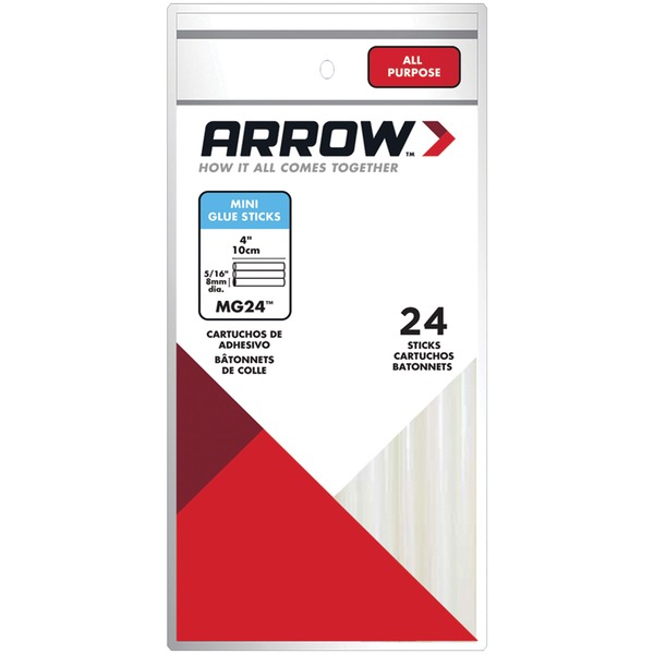 Arrow MG24-4 MG24-4 Mini Glue Sticks, 6 pk