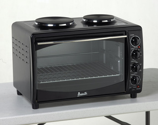 Compact Counter-Top Multi-Function Convection Toaster Oven, Black