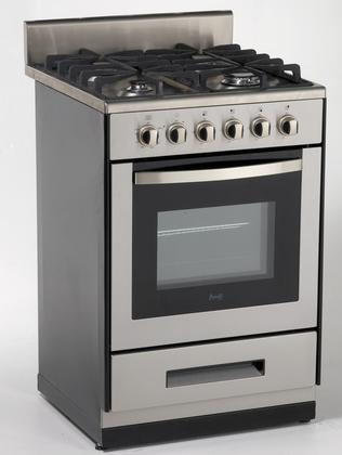 "AVANTI DG2450SS1 24"" FREE STANDING GAS RANGE WITH SEALED"