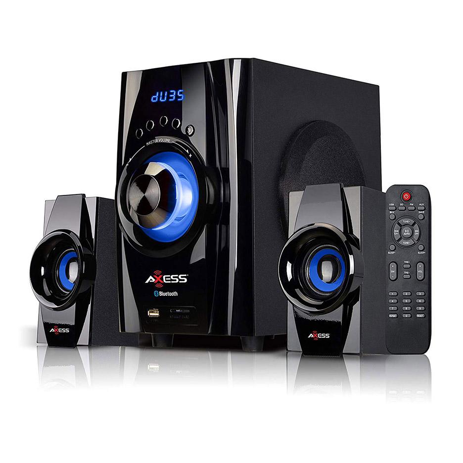 AXESS SPBT1073PK  Indoor//Outdoor Bluetooth Media Speaker 3.5mm Line-In Jack R...