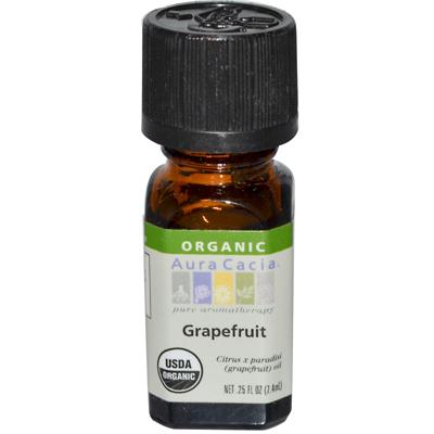 Aura Cacia Organic Grapefruit Essential Oil (1x25 Oz)