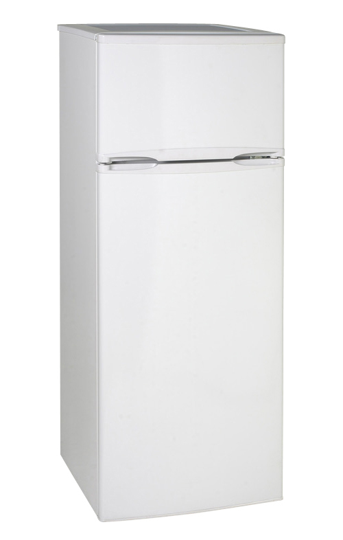 7.4 cu.ft refrigerator, two door, white