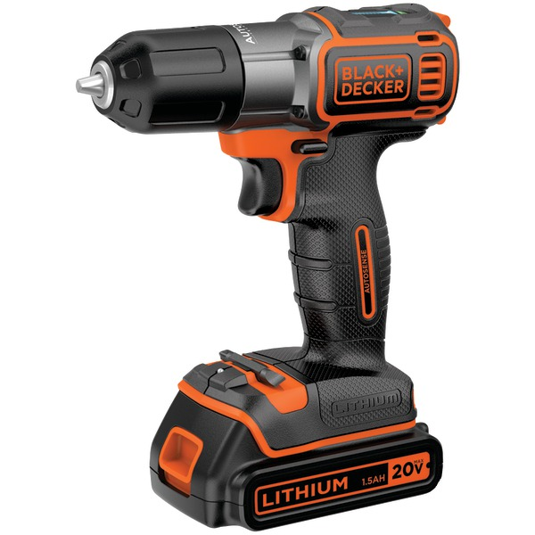 BLACK+DECKER BDCDE120C 20-Volt MAX* Lithium Drill/Driver with AutoSense Technology