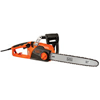 Black & Decker CS1518 Corded Chain saw, 120 VAC, 15 A, 18 in Chain