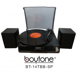 BOYTONE BT14TBBSP BLACK FULL SIZE TURNTABLE MULTI RPM 3 SPEED