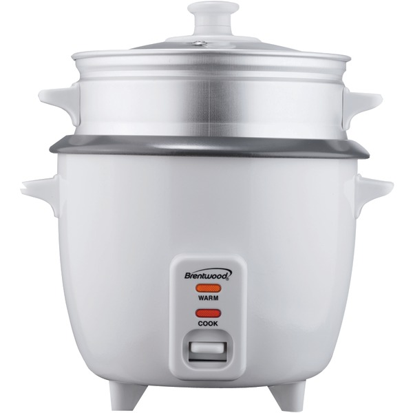 Brentwood Ts-600S Rice Cooker With Steamer (5 Cups, 400W)