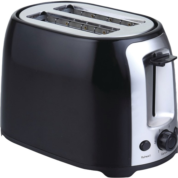 Brentwood Appliances TS-292B 2-Slice Cool Touch Toaster (Black & Stainless Steel)