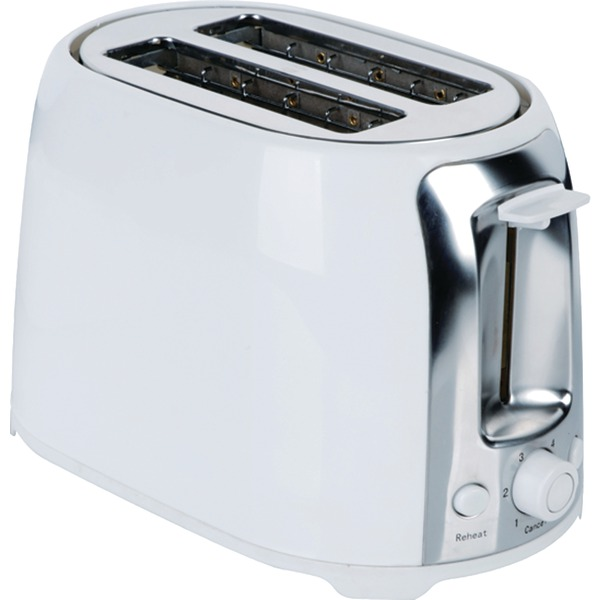 Brentwood Appliances TS-292W 2-Slice Cool Touch Toaster (White & Stainless Steel)