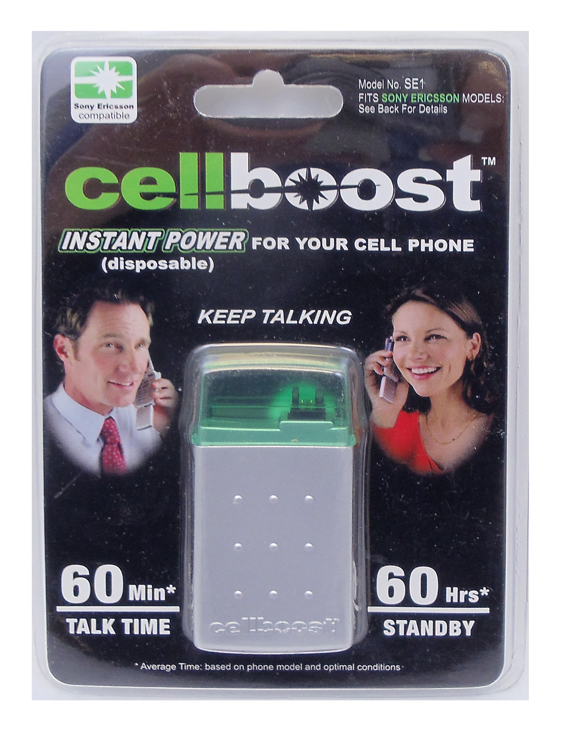 CELLBOOST - PROVIDES INSTANT POWER UP TO 60 MINUTES TALK TIME & 60 HOURS STANDBY FOR SONY ERICSSON PHONES