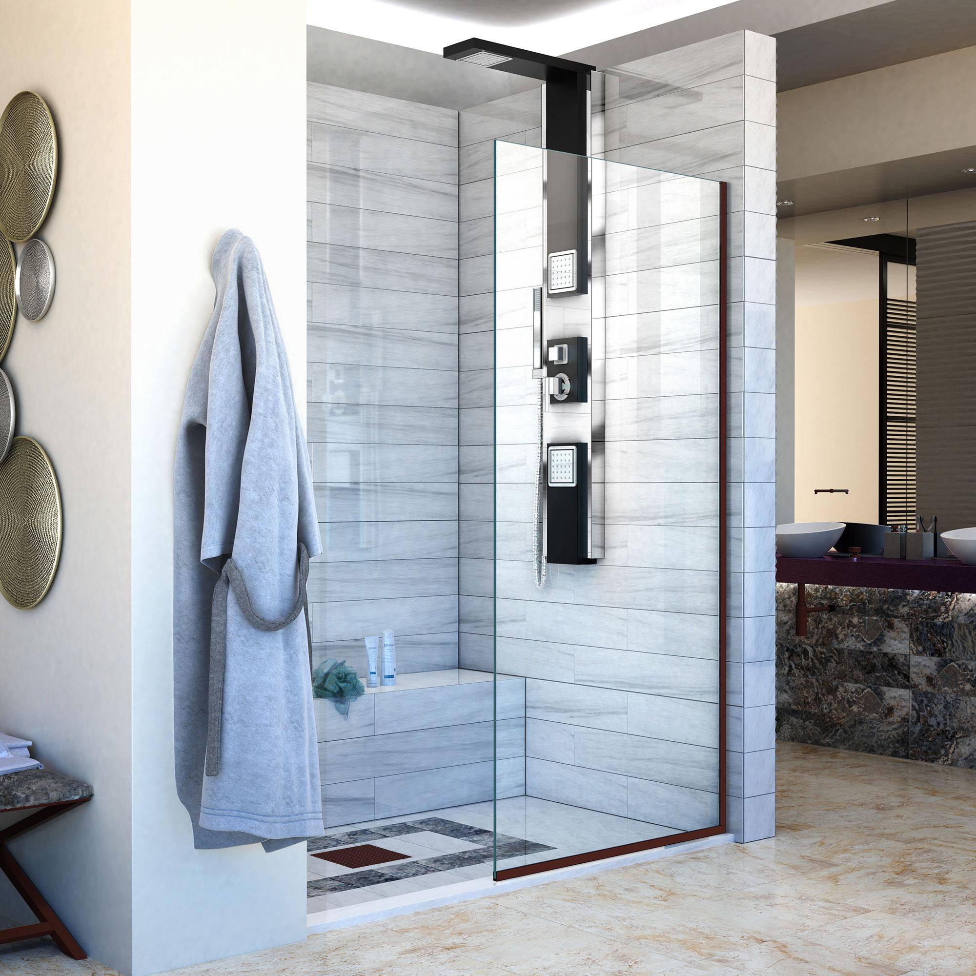 Only $642.13 DreamLine Linea Single Panel Frameless Shower Screen 34 ...