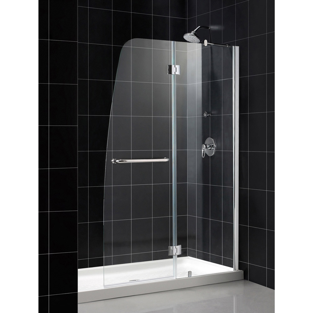 Clear Glass Hinged Shower Door : Only  shdr bathauthority