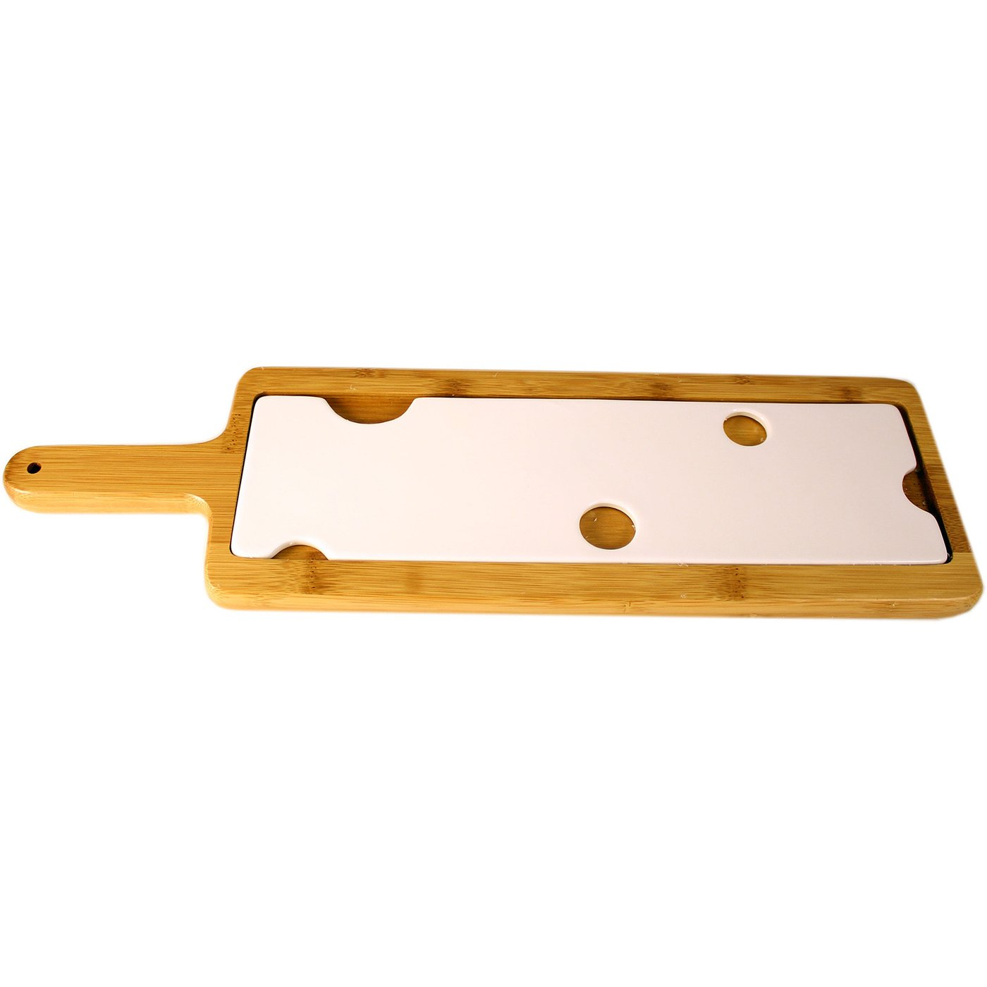 AKT Swiss - Wooden/Ceramic Cheese Board