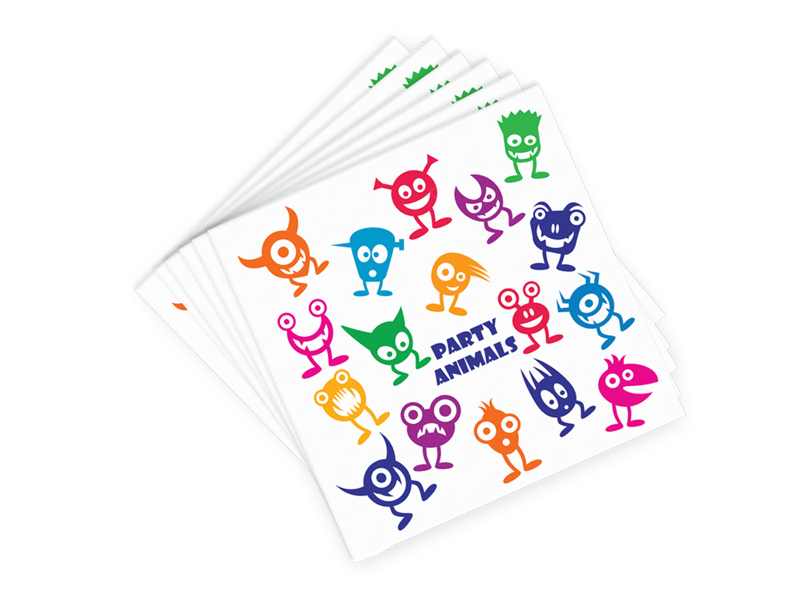 AN-W Party Animals - Decorative Napkin Sets