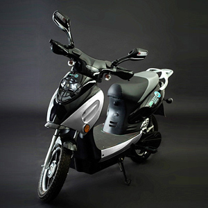 Scooter Bike - Electric - Black/Silver