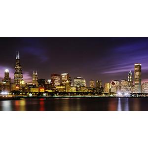 Only biggies wall mural chicago skyline medium for Chicago skyline wall mural