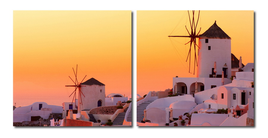 Baxton Studio Grecian Crossroads Mounted Photography Print Diptych