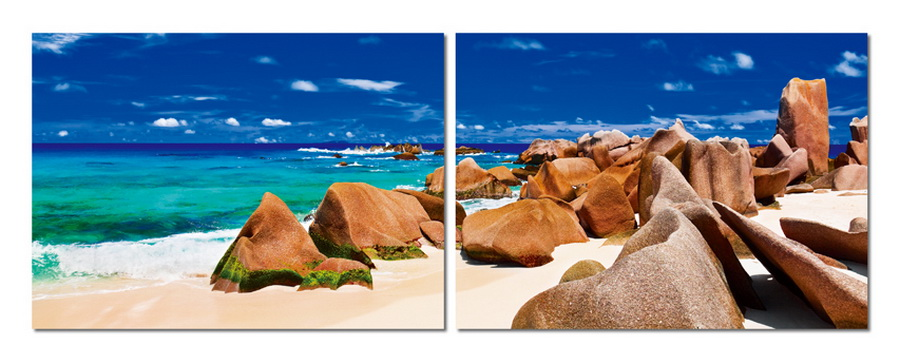 Baxton Studio Tasmanian Tide Mounted Photography Print Diptych
