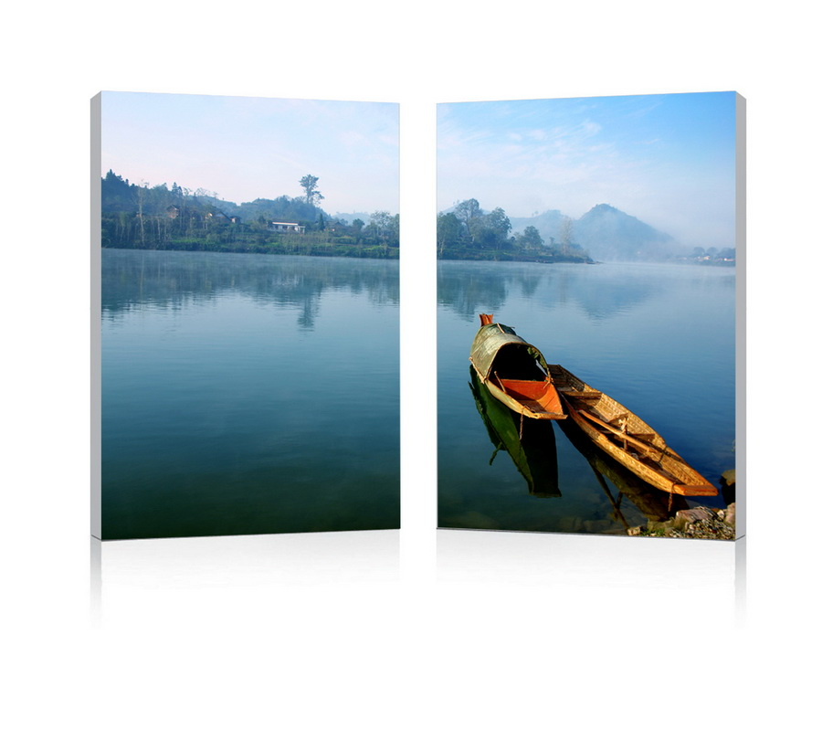 Baxton Studio Traditional Travel Mounted Photography Print Diptych