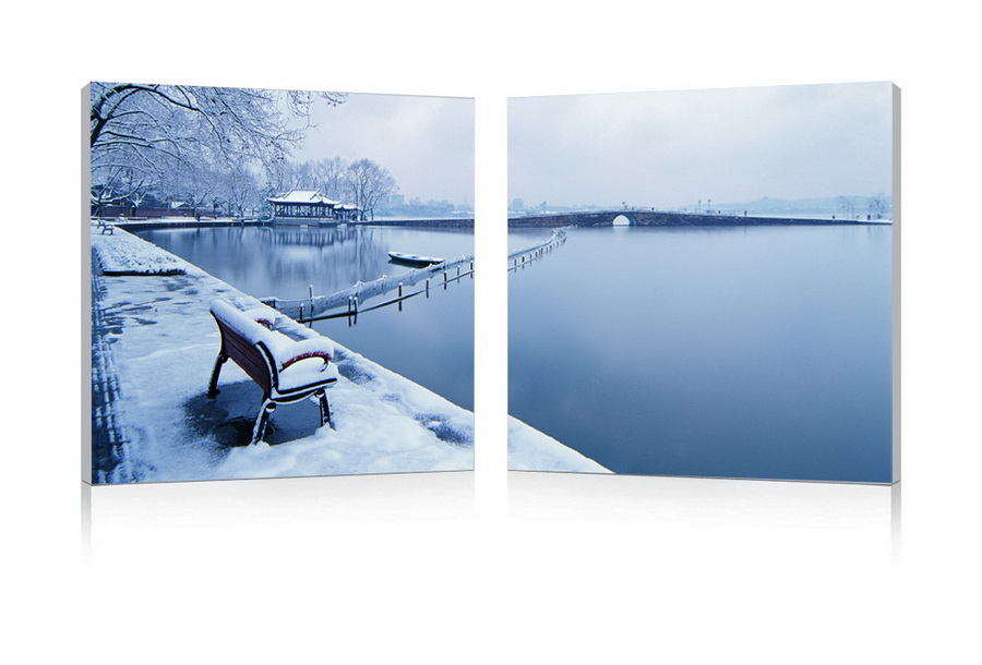 Baxton Studio Wintry Wonder Mounted Photography Print Diptych