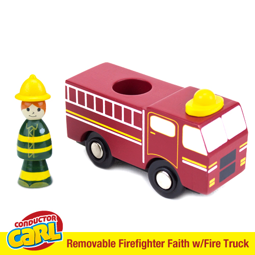 Firefighter Faith Fire Truck with Removable Character