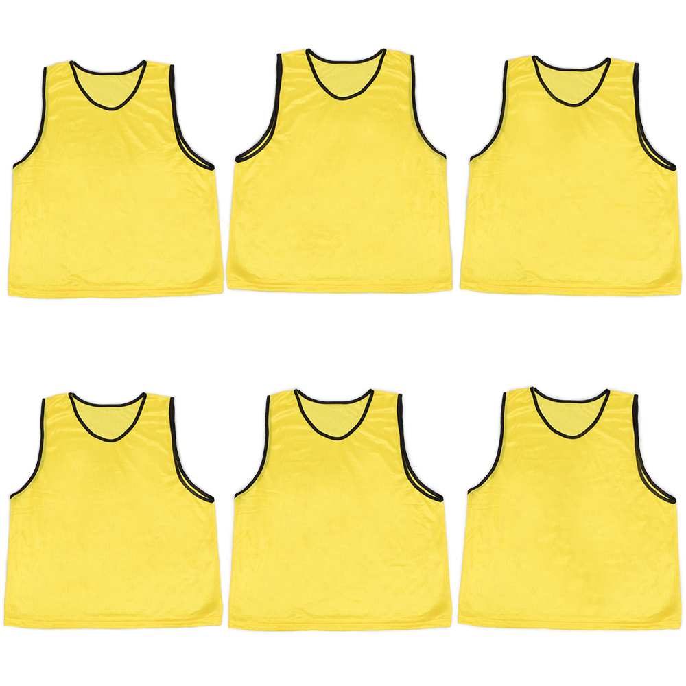 6-pack Adult Scrimmage Pinnies, Yellow