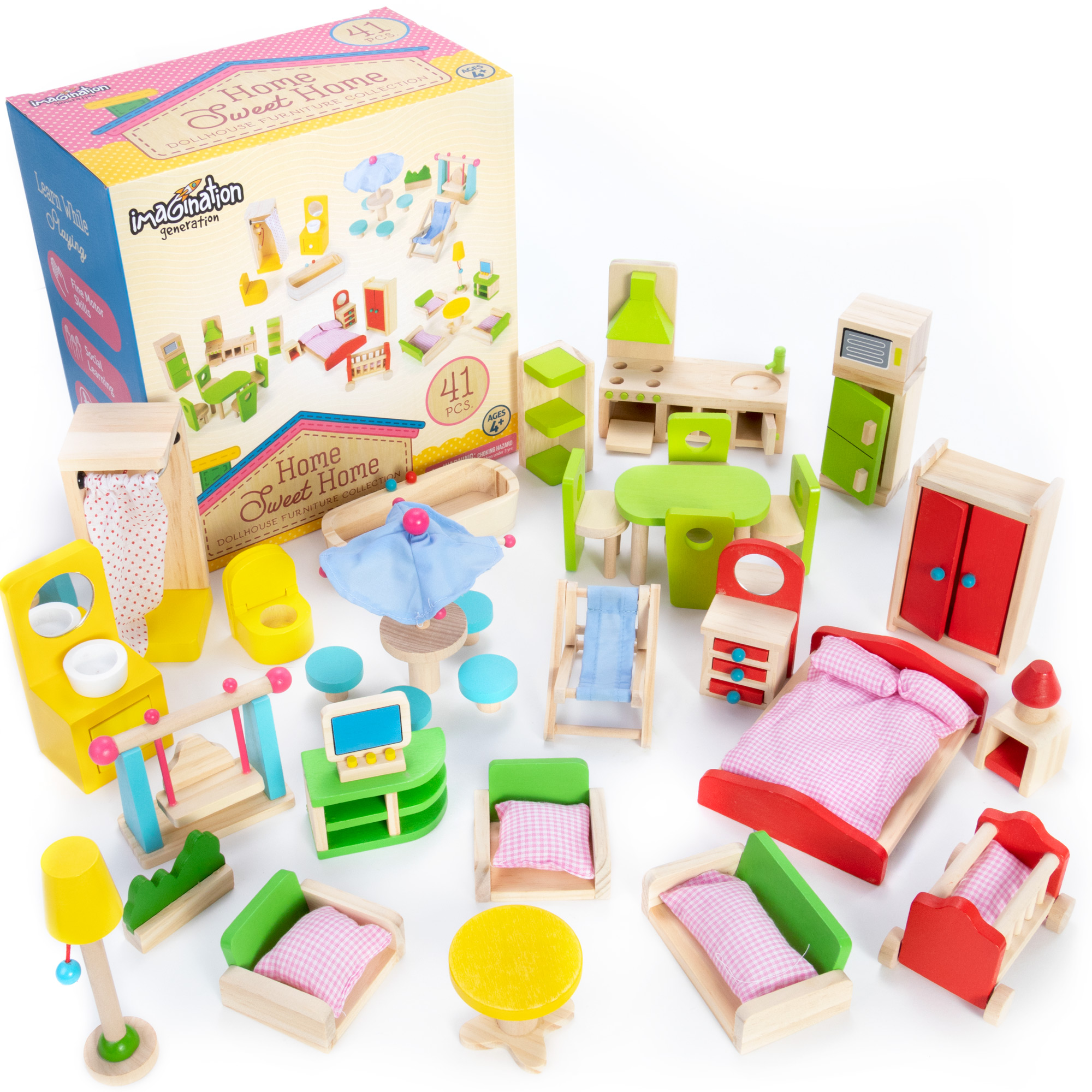 Home Sweet Home Dollhouse Furniture Collection, 41 pcs.