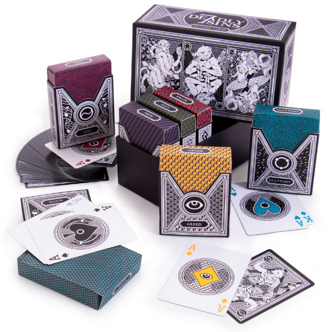 7 Deadly Sins Playing Card Box Set