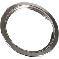 Camco 00343 Electric Universal Trim Ring, For Use With Metal or Porcelain Pans, 6 in Dia, Chrome Plated
