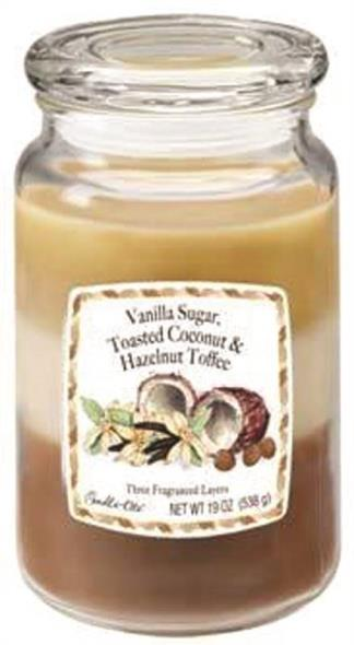 Candle,-Lite 1962083 3-Layer Multi-Fragrance Candle, 19 oz Capacity, 3.89 in Dia X 5.7 in H