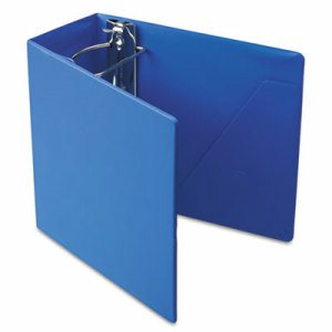 "SuperStrength Locking Slant-D Ring Binder, 5"" Cap, 11 x 8 1/2, Blue"