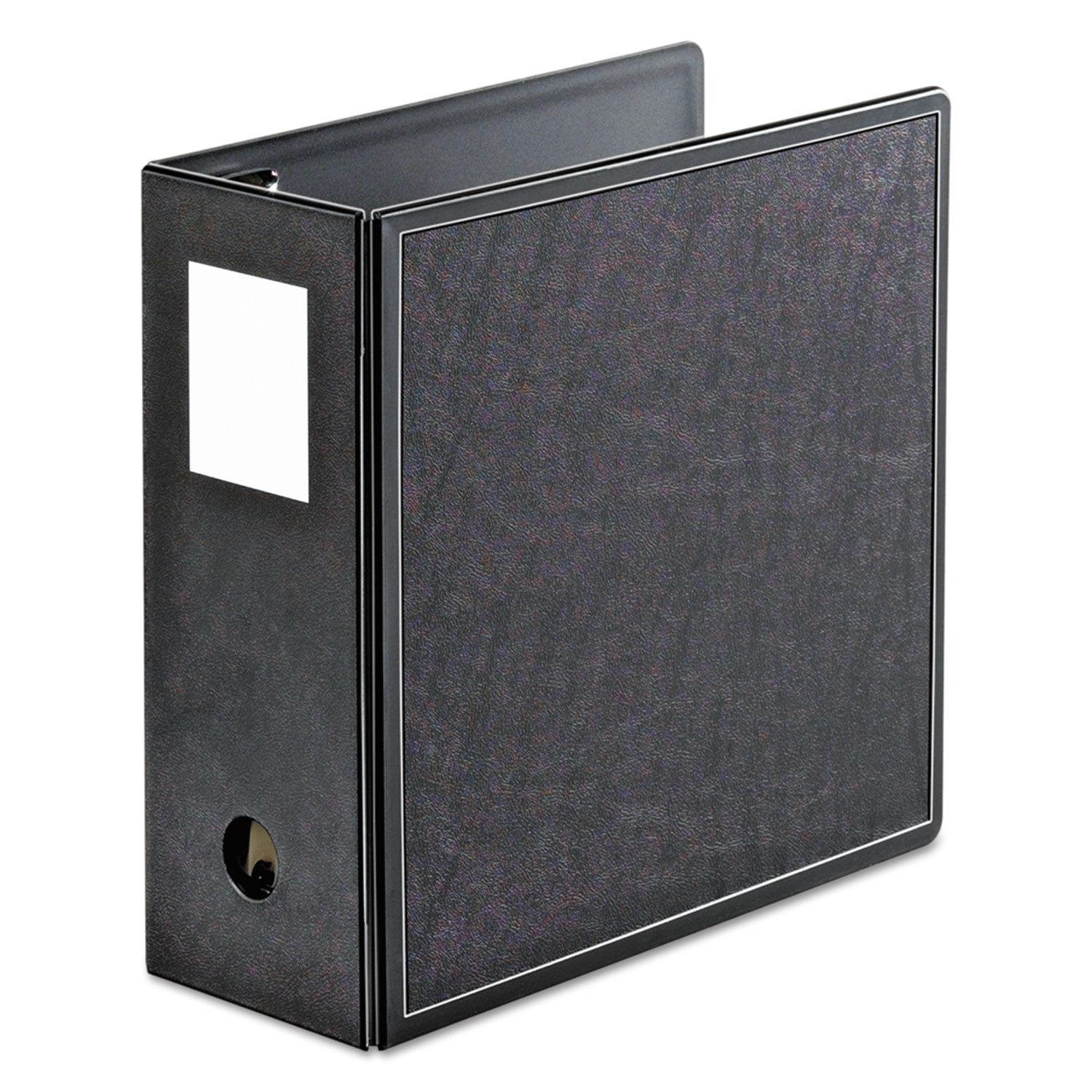 "SuperLife Easy Open Locking Slant-D Ring Binder, 5"" Cap, 11 x 8 1/2, Black"