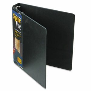 "Spine Vue Locking Round Ring Binder, 1 1/2"" Cap, 11 x 8 1/2, Black"