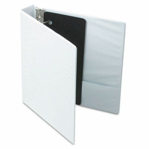 "Performer ClearVue Slant-D Ring Binder, 1 1/2"" Cap, 11 x 8 1/2, White"
