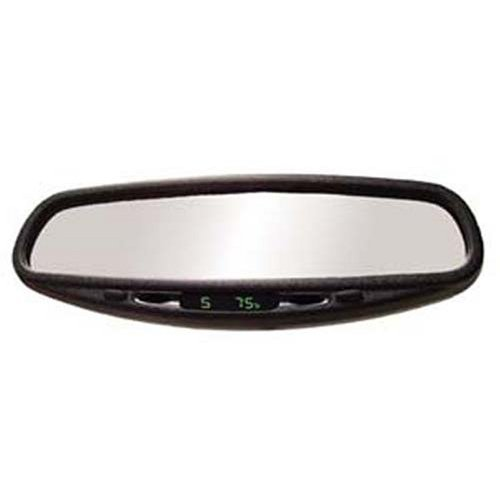 Wedge Base Auto Dimming Mirror with Compass and Temperature