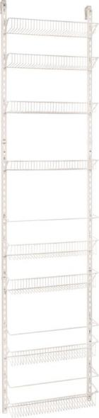 Closetmaid 123300 Adjustable Wall and Door Rack, 76 in H x 18 in W, Metal, White