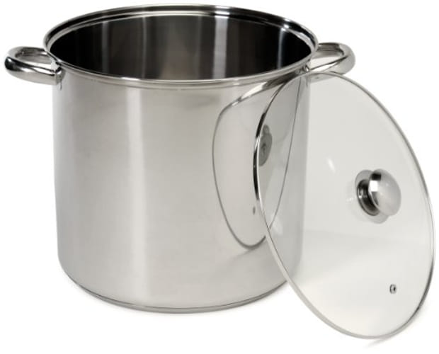 Cookpro 550 Steel Stockpot 16 Quart With Glass Lid
