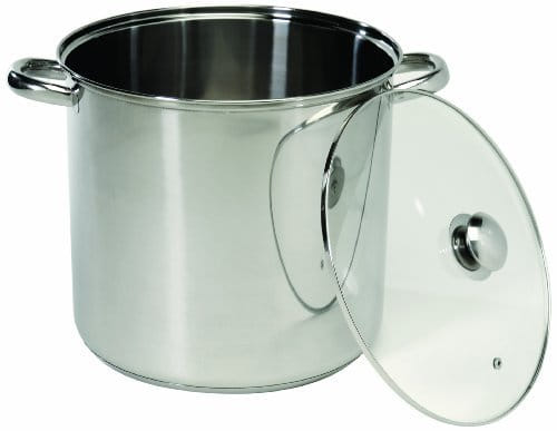 Cookpro 548 Stainless Stockpot W/Glass Lid 8 Quart Tempered