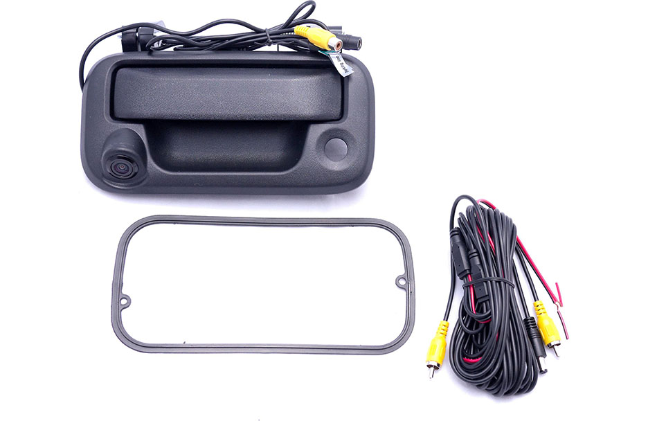 Crux Backup camera for select 2004-up Ford trucks-tailgate handle