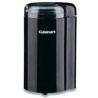 Cuisinart DCG-20BKN Coffee Grinder, 130 W, 120 V, 2.5 oz Container, Stainless Steel, Black