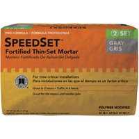 SpeedSet SDS25 Fortified Thin?Set?Mortar, 25 lb, Bag, Gray, Solid Powder