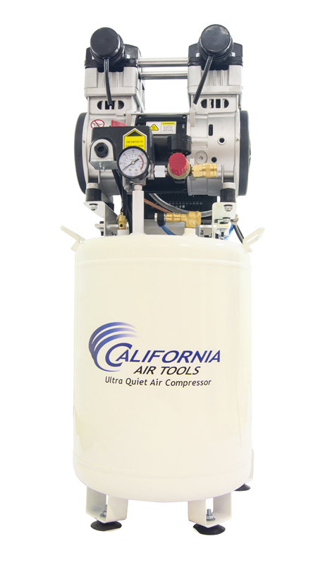 California Air Tools 10020DC Ultra Quiet & Oil-Free 2.0 Hp, 10.0 Gal. Steel Tank Air Compressor with Air Drying System (110V 60H