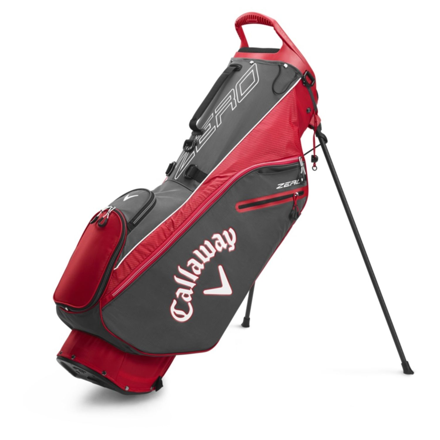Callaway Golf 2020 Hyperlite Zero Stand Bag-Charcoal-Wht-Red