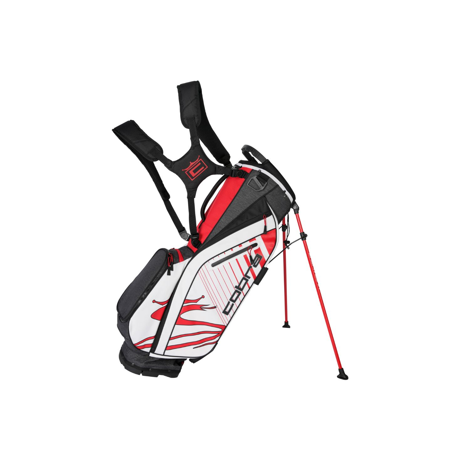 Cobra Golf 2020 Ultralight Stand Bag Black-High Risk Red-Wht